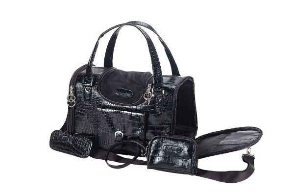 Anima faux crocodile dog carrier