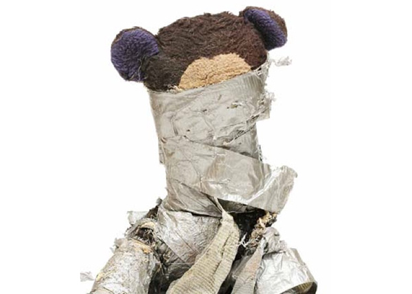 Chewed Duct Tape Teddy Bear