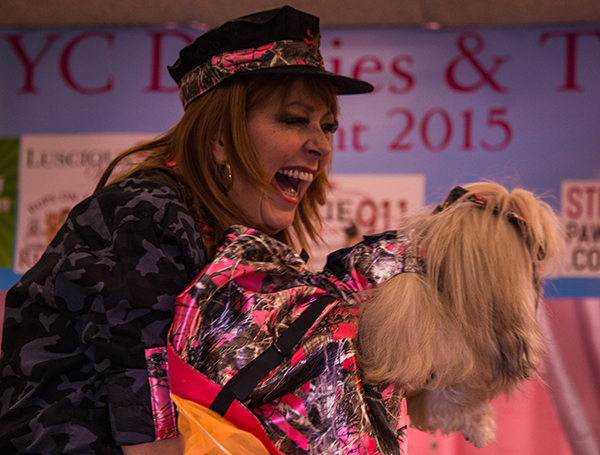 Gianna wowing the judges at the Doggies and Tiaras Pageant. Image via Cheyenne Cohen.