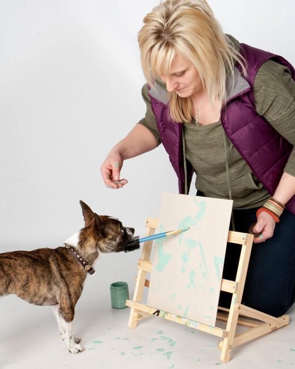 Newman dog painter 2
