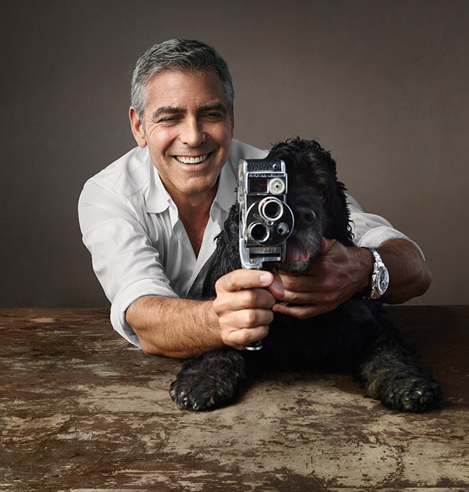 George Clooney and His Dog Share Spotlight in Latest Omega Ad - This ...