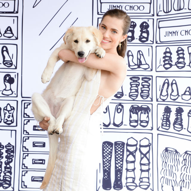 Allison Williams with her dog Moxie