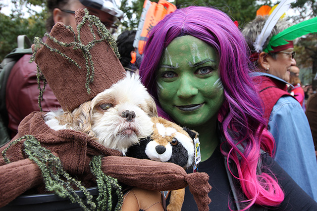 Guardians of the Galaxy and Baby Groot. Image via Geoffrey Woodcock.
