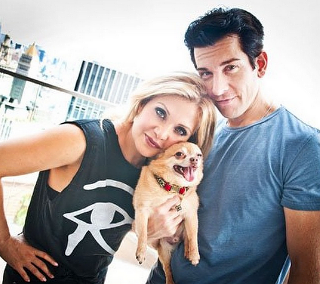 Orfeh and dog