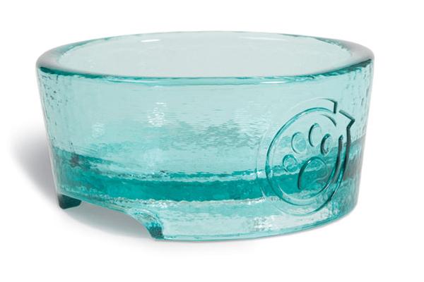 PawNosh bowl in aqua