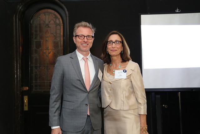 Patrick Nolan, AC&C Board Chair, standing alongside Risa Weinstock