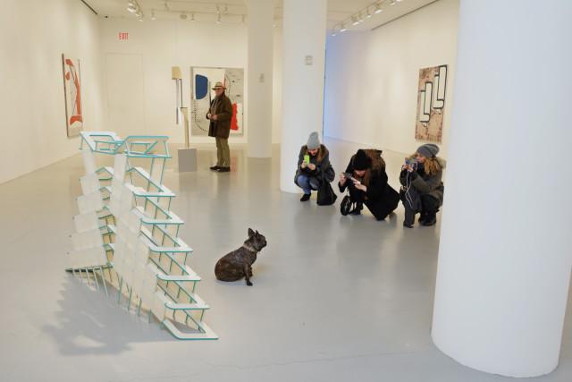 "Diane Simpson ""Underskirt,"" 2986 in Jo Baer, Anne Neukamp, Diane Simpson at Mitchell-Innes & Nash. Image Credit Katie Howard."