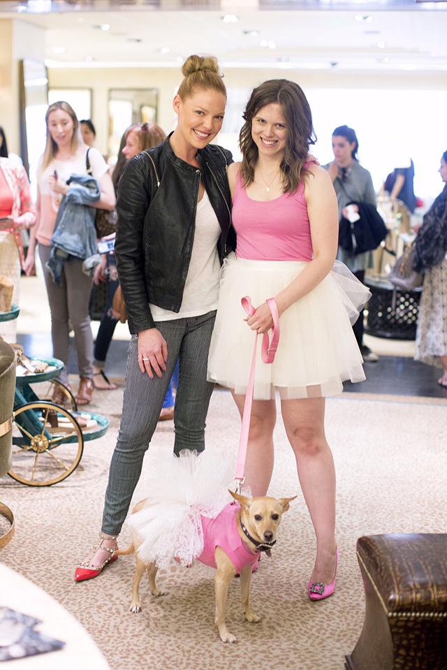 Katherine Heigl and Williamson at Bergdorf's. Photo Credit Seriously Sabrina Photography