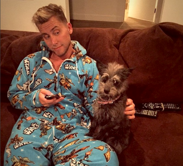 Lance Bass and Lily via Instagram