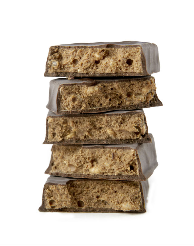 PB squares stacked rescue chocolate